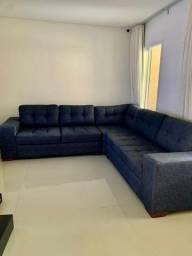 Sofá de Canto Azul Escuro Impermeabilizado Lindíssimo