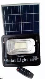 Refletor Led Solar com painel 100w