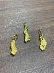 Título do anúncio: Pingentes de Ouro - Pepitas naturais - Ouro - Aceito cartão