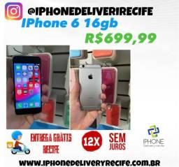 Título do anúncio: IPhone 6 16gb (12 x Sem Juros) Entrega Grátis Recife