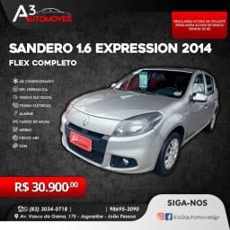 Sandero Expression 1.6 2014 Completo!!!