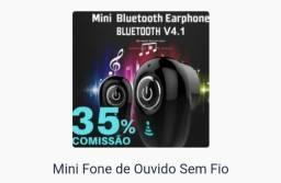 Mini fone de ouvido sem fio ( Bluetooth )