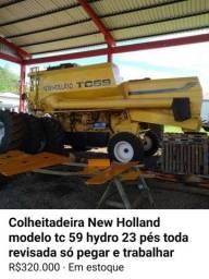 Título do anúncio: New Holland tc 59 hydro toda revisada 23 pés ano 2001 modelo 2002