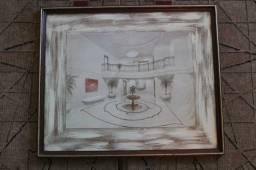 Título do anúncio: Quadro Sala em Tela Branco 50 cm x 60 cm x 2 cm