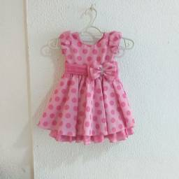 Vestido menina poa