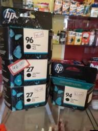 Cartuchos da marca HP