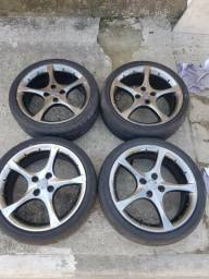 Rodas aro 17 pneus meia vida