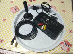 Conversor e antena para TV - SUPER BARBADA!