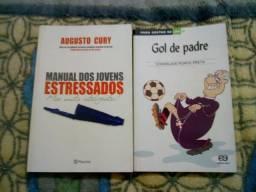Manual dos jovens estressados mas muito inteligente e o livro gol de padre