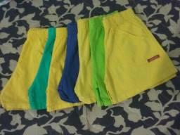 7 Shorts Feminino Infantil.