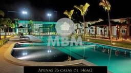 Vendo casa em condomínio no Eusébio com 146 m² com 3 suítes e lazer completo