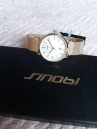 Relógio Sinobe Feminino dourado