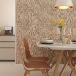 Revestimento Decorado 3D Marrom R$ 22,99m² > Casa Nur - O Outlet do Acabamento
