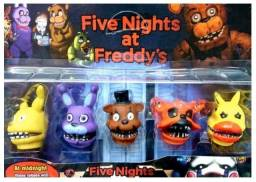 Dedoches Bonecos Five Night At Freddys 5pcs Personagens
