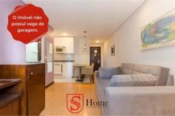 Apartamento mobiliado com sacada e 1 quarto para aluguel no Bigorrilho em Curitiba
