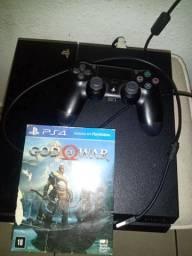 PS4 Fat 1 TB novo pouco tempo de uso, não fasso ml