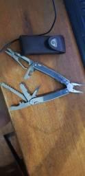 Canivete Vitorinox Swisstool Spirit X com bainha de couro