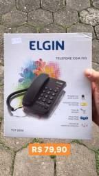 Telefone com fio Elgin (R$ 79,90)
