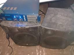 Combo amplificador + caixas de som