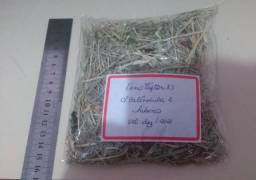 Feno Tifton 85 c/ calêndula e hibisco para hamster