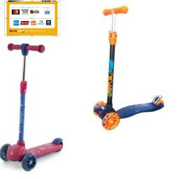 10 vezes R$36,99 Patinete Radical New Plus Com Luzes - Dm Toys