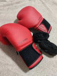 Luva boxe ou muay thay pouco uso com bandagem 5mt