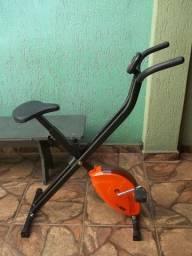 Bicicleta Ergométrica Vertical Dobrável Life Zone - Ótima p/ Apartamento