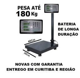 Título do anúncio: Balança digital 180kg plataforma 40x30cm Nova Garantia entrego Parcelo até 12X