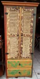 sapateira rustica em madeira de demoliçao