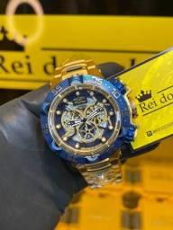 Título do anúncio: Invicta Noma V azul com dourado novo