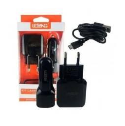 Kit Carregador de Celular 3 em 1  Lelong