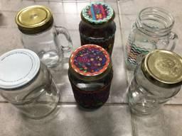 6 potes de vidro