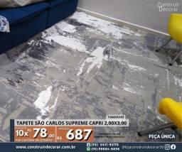 Título do anúncio: Tapete São Carlos Capri Cinza 2,00x3,00 Novo