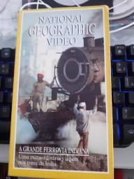 VHS National Geographic A Grande Ferrovia Indiana - não aceito troca