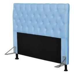 Título do anúncio: Cabeceira Para Cama Box Casal 140 cm Cristal Corano Azul Bebê- Js Móveis
