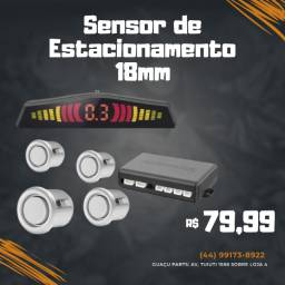 Sensor Estacionamento Ré 4 Sensores Display Cores