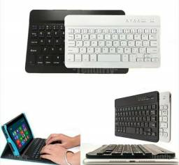 Mini Teclado Universal s/ Fio Bluetooth p/ Mac/ Tablet/iPad/Celular