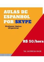 Título do anúncio: Aulas de Espanhol por Skype R$50/hora (Professores Nativos)