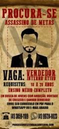 Título do anúncio: VAGA PARA VENDEDOR (A) INTERNO