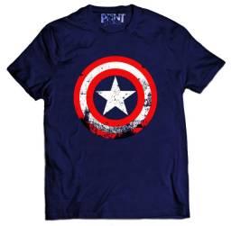 camiseta escudo capitão américa  camiseta super herói silk screen