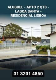 Título do anúncio: Aluguel - Apto 2 qts - Lagoa Santa - Residencial Lisboa