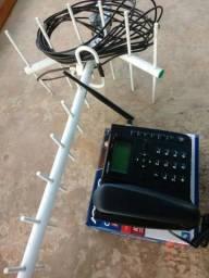 Telefone rural com antena