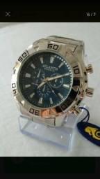 Relógio Atlantis Prata e Dourado