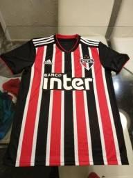 76d513a717 Camisa São Paulo II 2018 s/n° Torcedor Adidas Masculina - Vermelho e Branco
