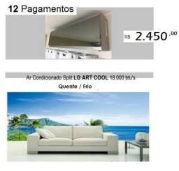 Ar Cond LG Art Cool 18.000 btu's Quente/Frio Metade do Preço de Mercado 12 Vezes