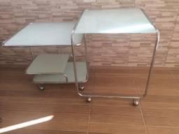 Mesa para escritório de vidro e escrivaninha ( aceito pgto com cartão via PayPal)