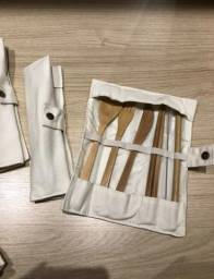 Kit de Talheres de bamboo reutilizáveis