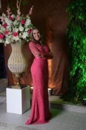 Vestido de Festa Longo Rosa by: Estilista Bárbara Melo