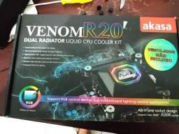 Water cooler Akasa Venom 20 de 240mm, Troco em SSD 120gb + Memória 8gb DDR4 2400mhz