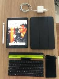 IPad 6a 32gb + Apple Pencil + Teclado Bluetooth + Capa